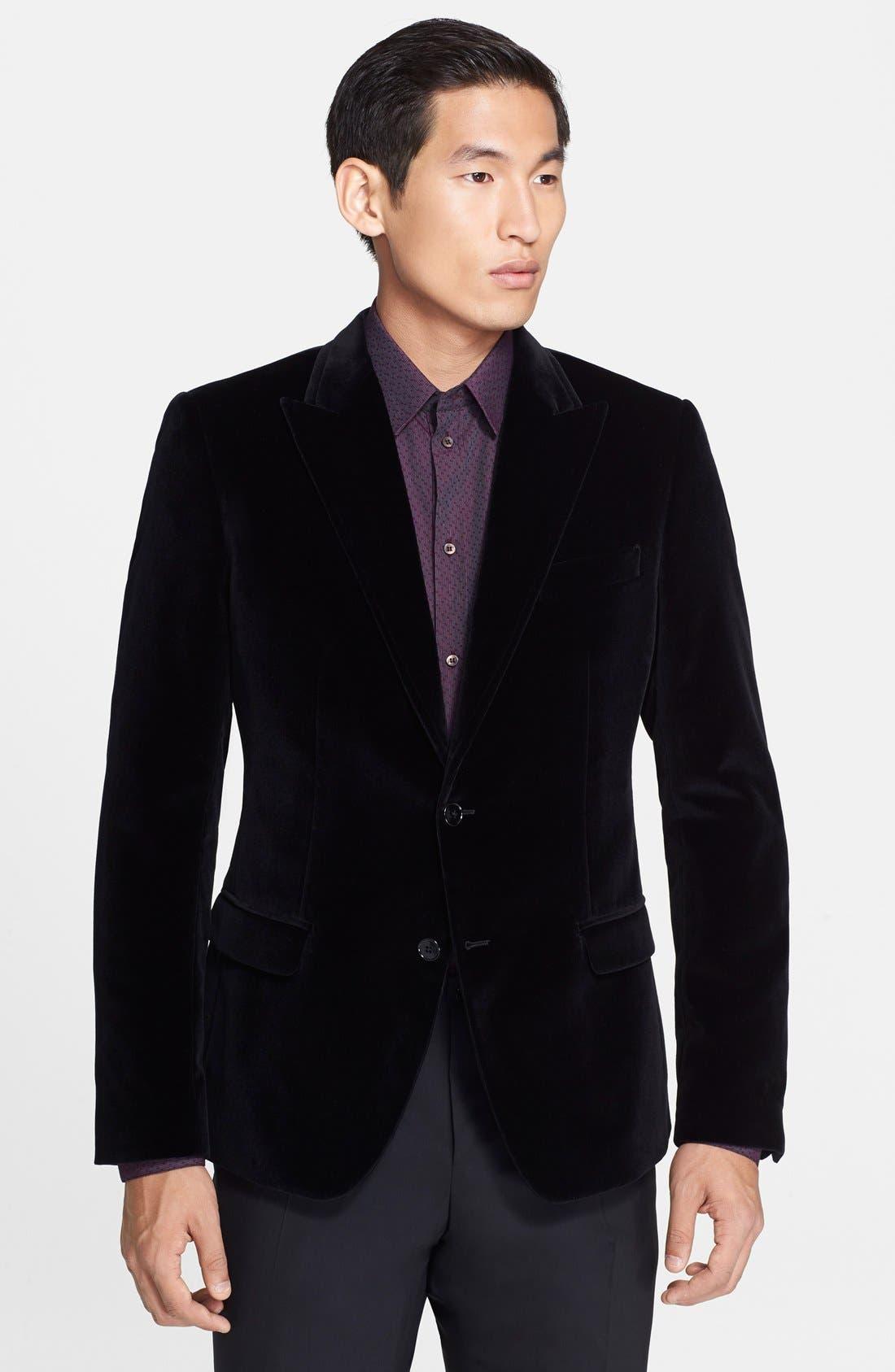 Main Image - Dolce&Gabbana 'Martini' Velvet Sport Coat