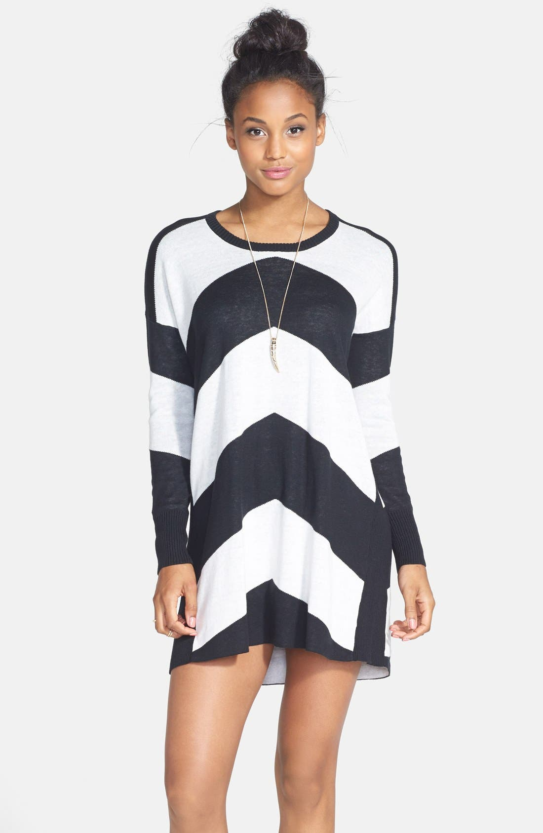 Main Image - Volcom 'Twisted' Chevron Sweater Dress