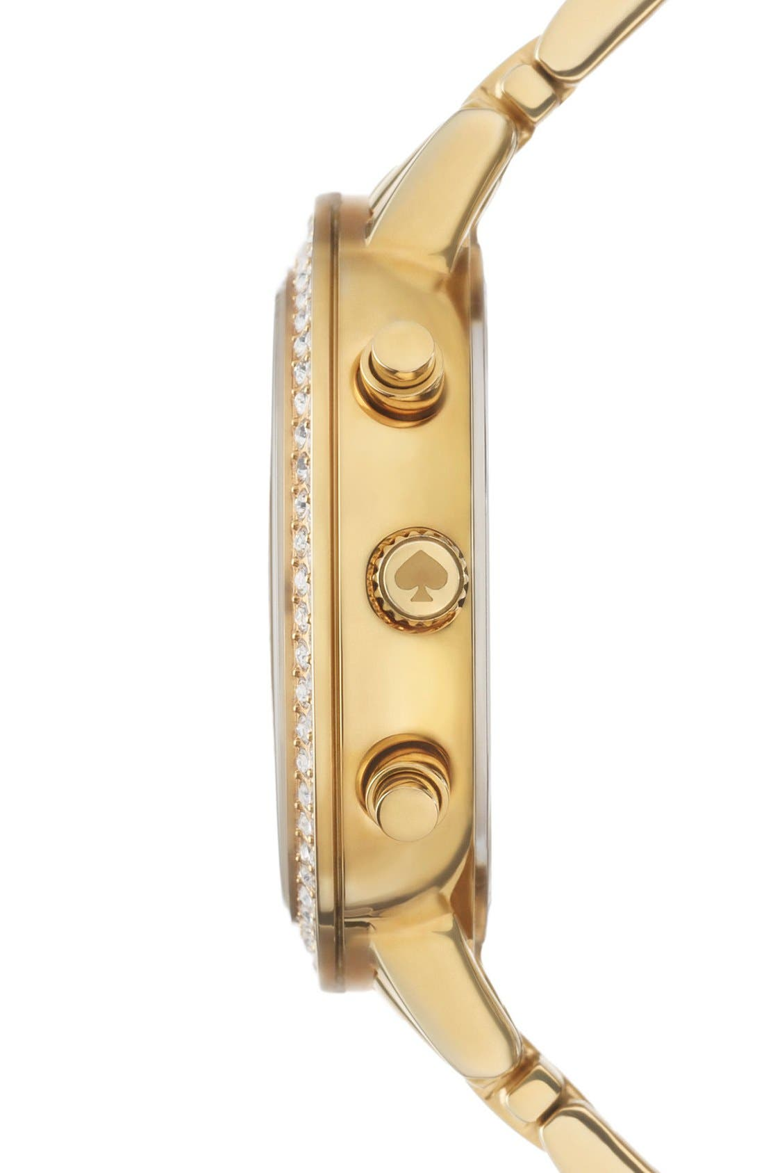 Alternate Image 3  - kate spade new york 'gramercy grand' crystal bezel multifunction bracelet watch, 38mm