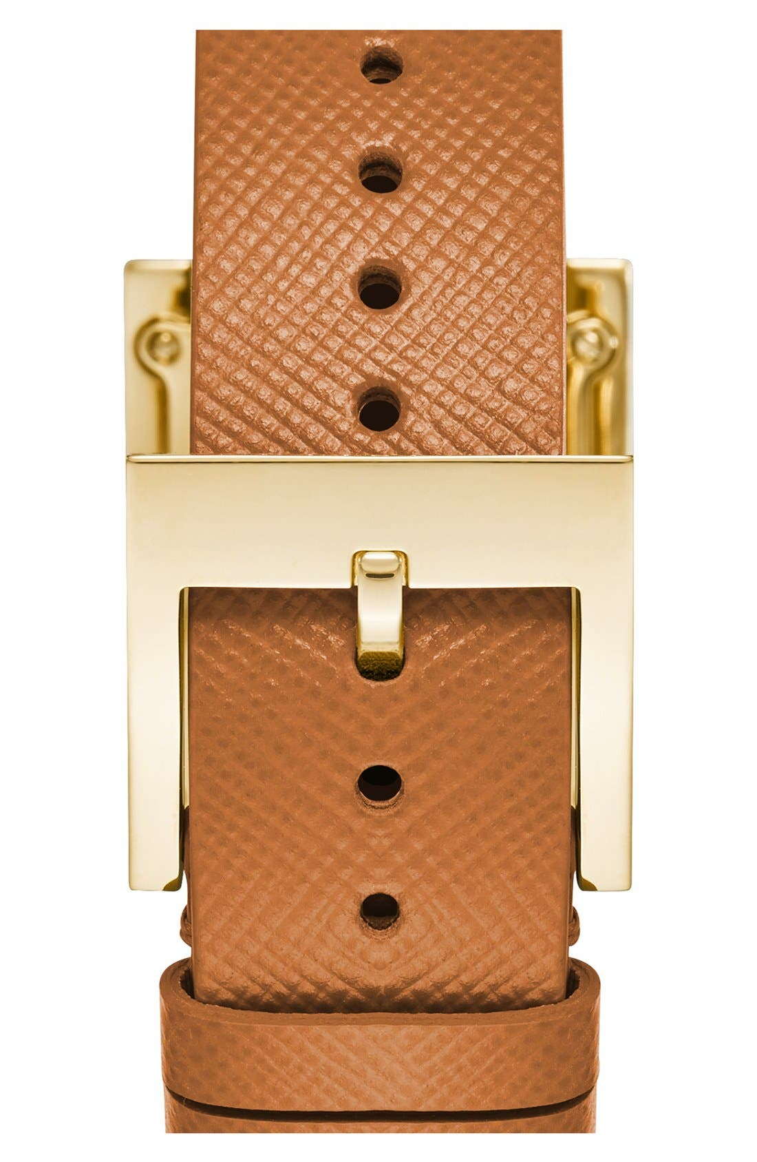 Alternate Image 2  - Tory Burch 'Buddy Classic' Rectangular Saffiano Leather Strap Watch, 26mm x 32mm