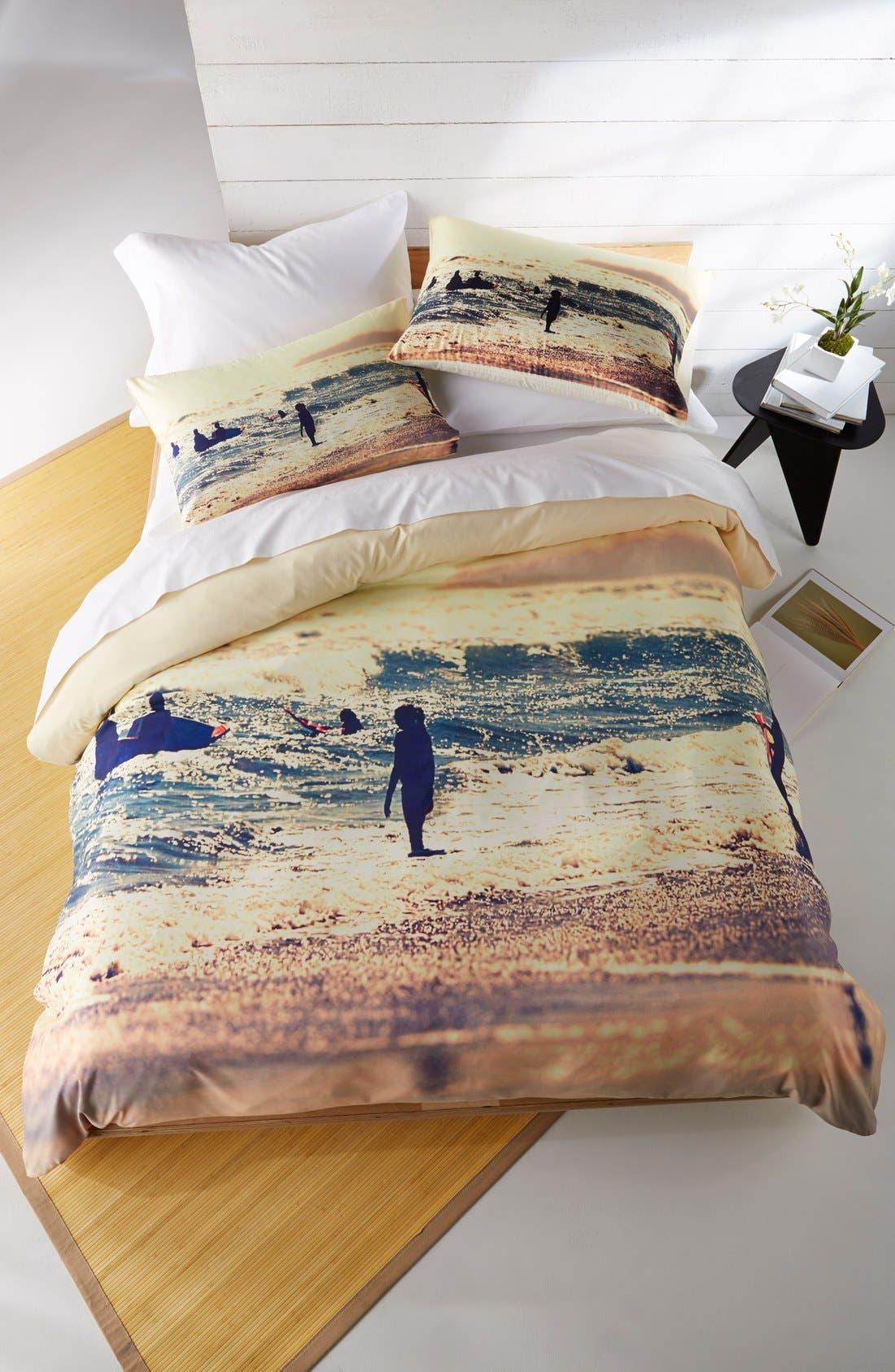 Alternate Image 1 Selected - DENY Designs 'Sunset Surfers' Duvet Cover Set