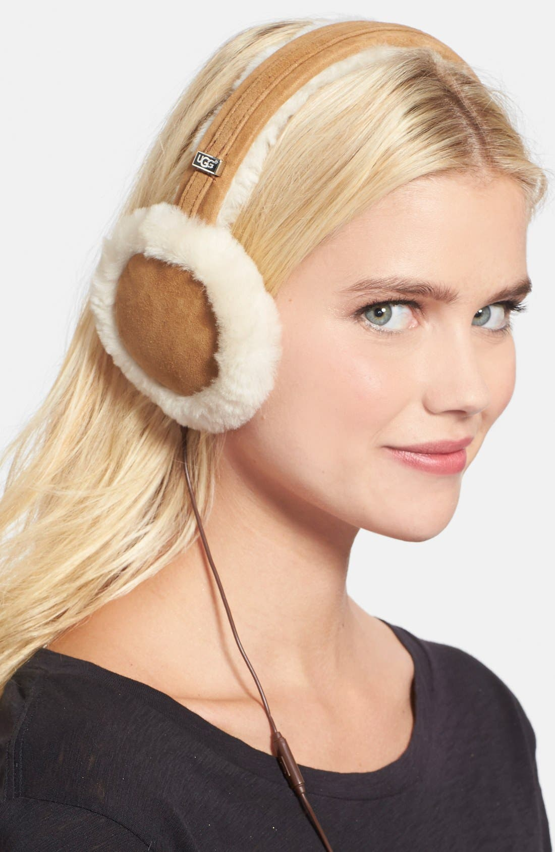 Alternate Image 1 Selected - UGG® Australia 'Classic' Genuine Shearling Headphone Earmuffs