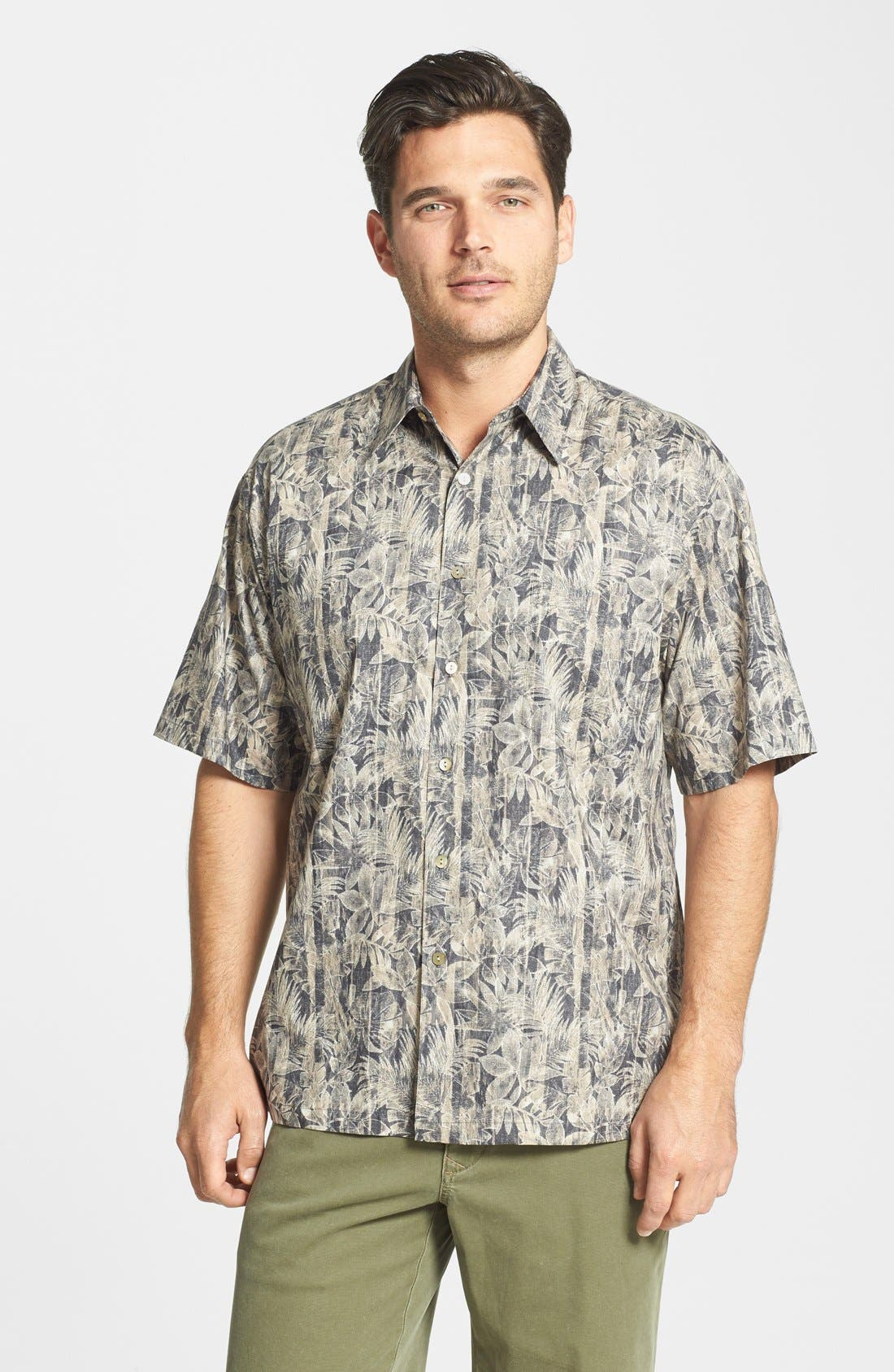 Alternate Image 1 Selected - Tori Richard 'Woodwork' Classic Fit Cotton Lawn Campshirt