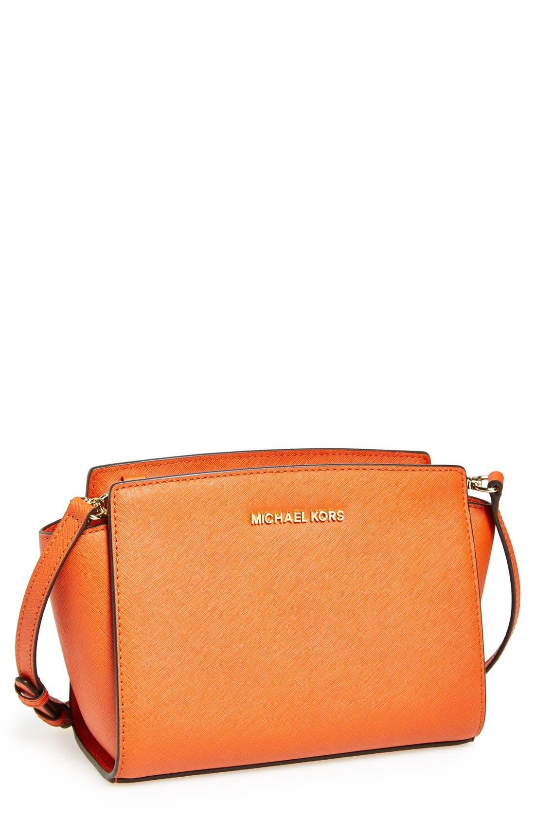 Alternate Image 1 Selected - MICHAEL Michael Kors 'Medium Selma' Saffiano Leather Crossbody Bag