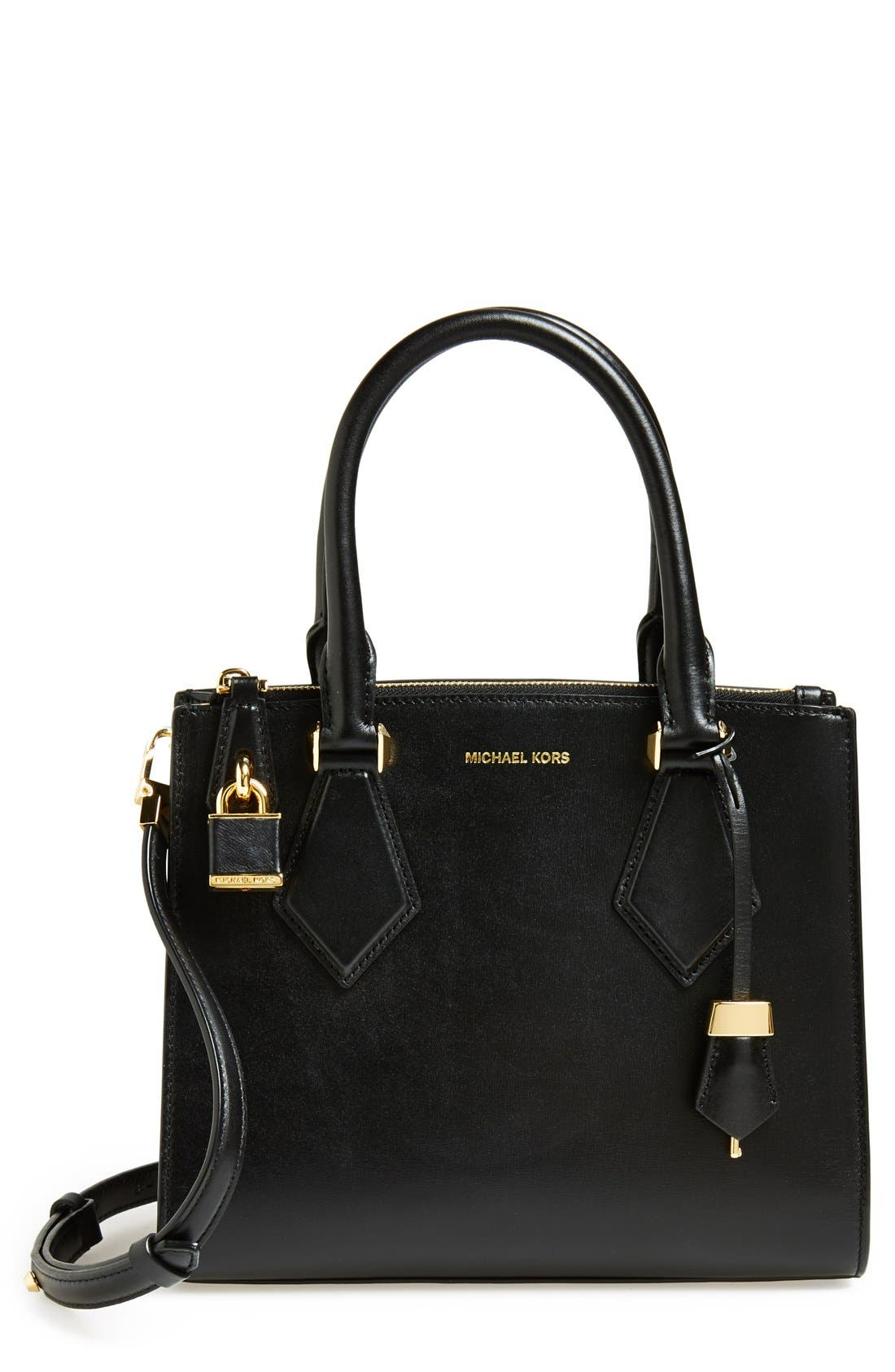 Alternate Image 1 Selected - Michael Kors 'Small Casey' Leather Satchel