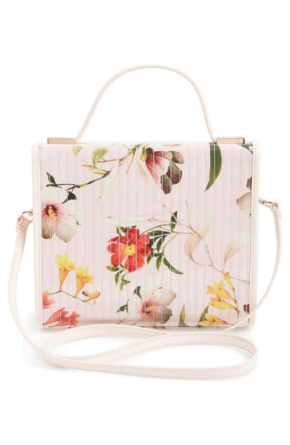 'Botanical Bloom' Crossbody Bag,                             Alternate thumbnail 4, color,                             Pale Pink