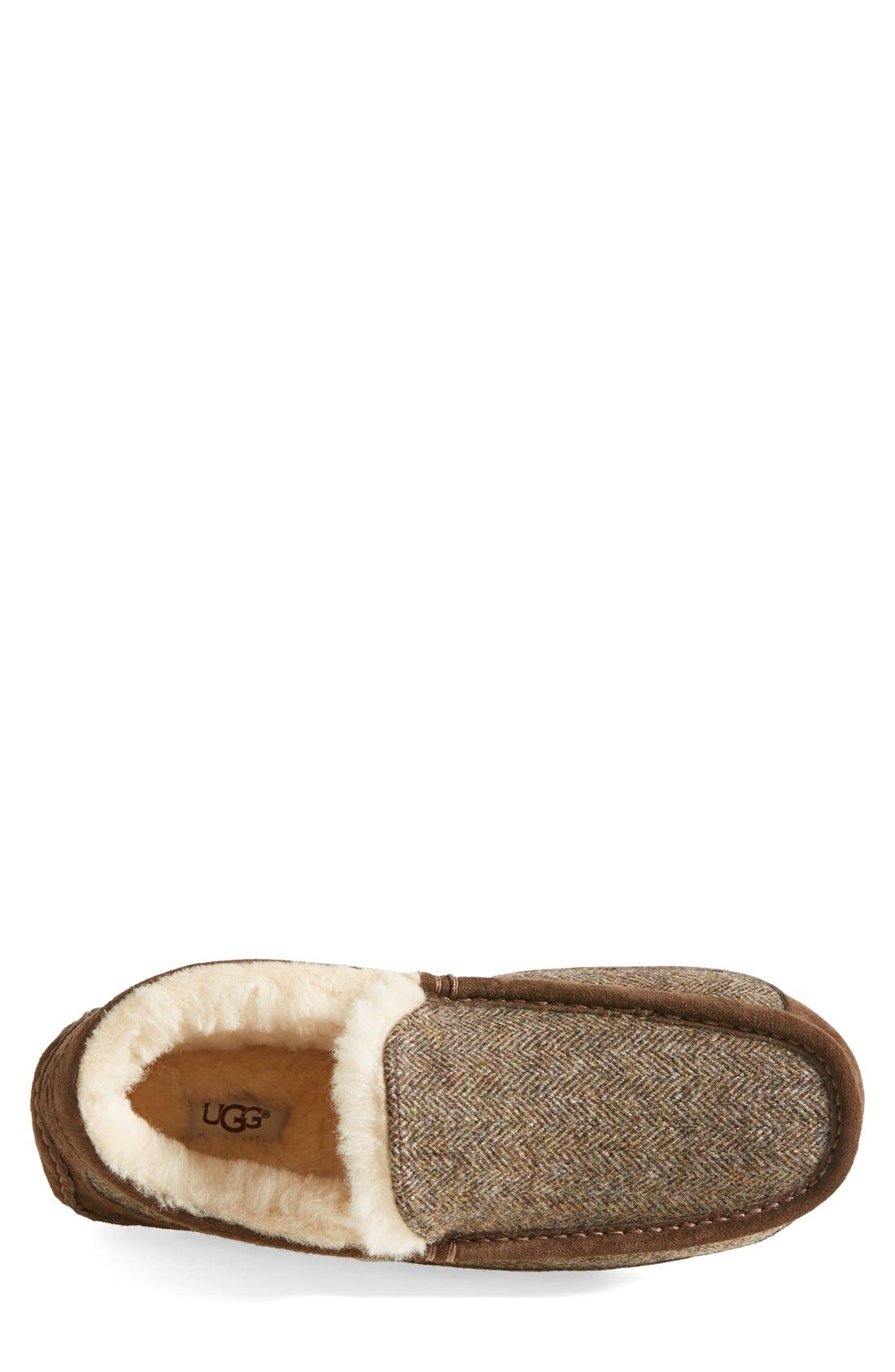 Ascot Tweed Slipper,                             Alternate thumbnail 3, color,                             Stout Tweed