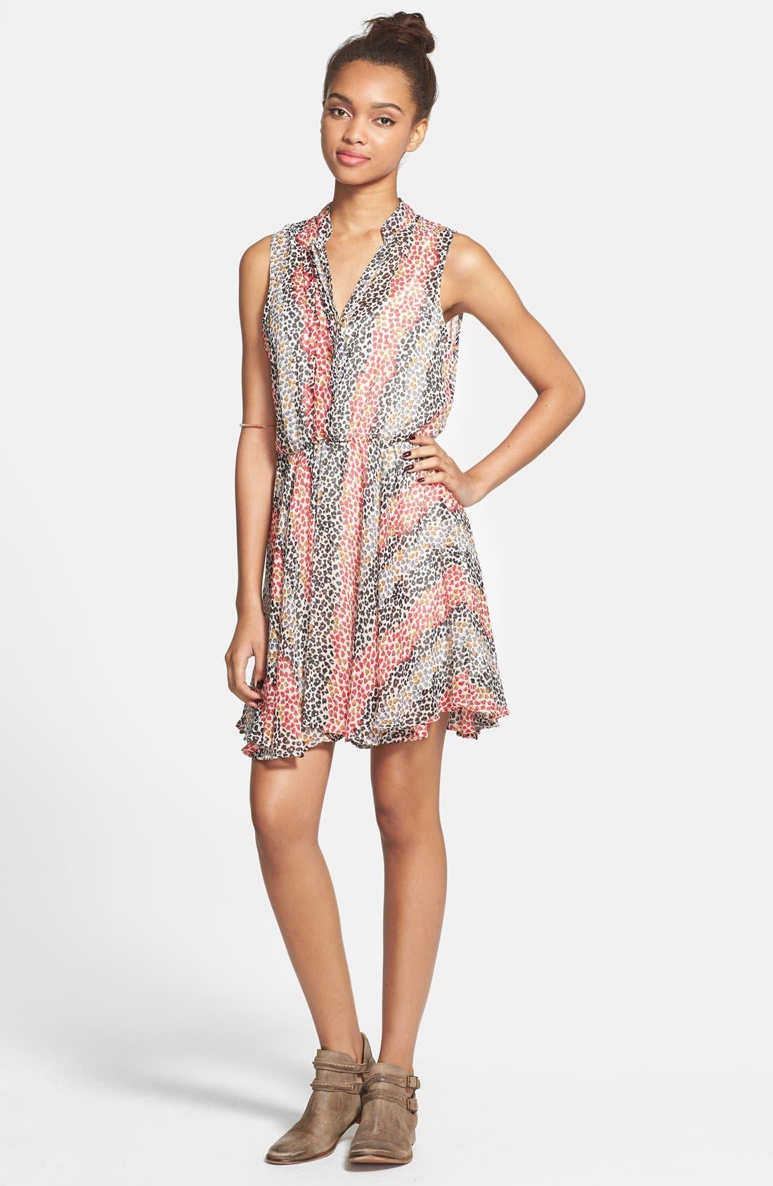 Alternate Image 3  - Mimi Chica Sleeveless Surplice Dress (Juniors)