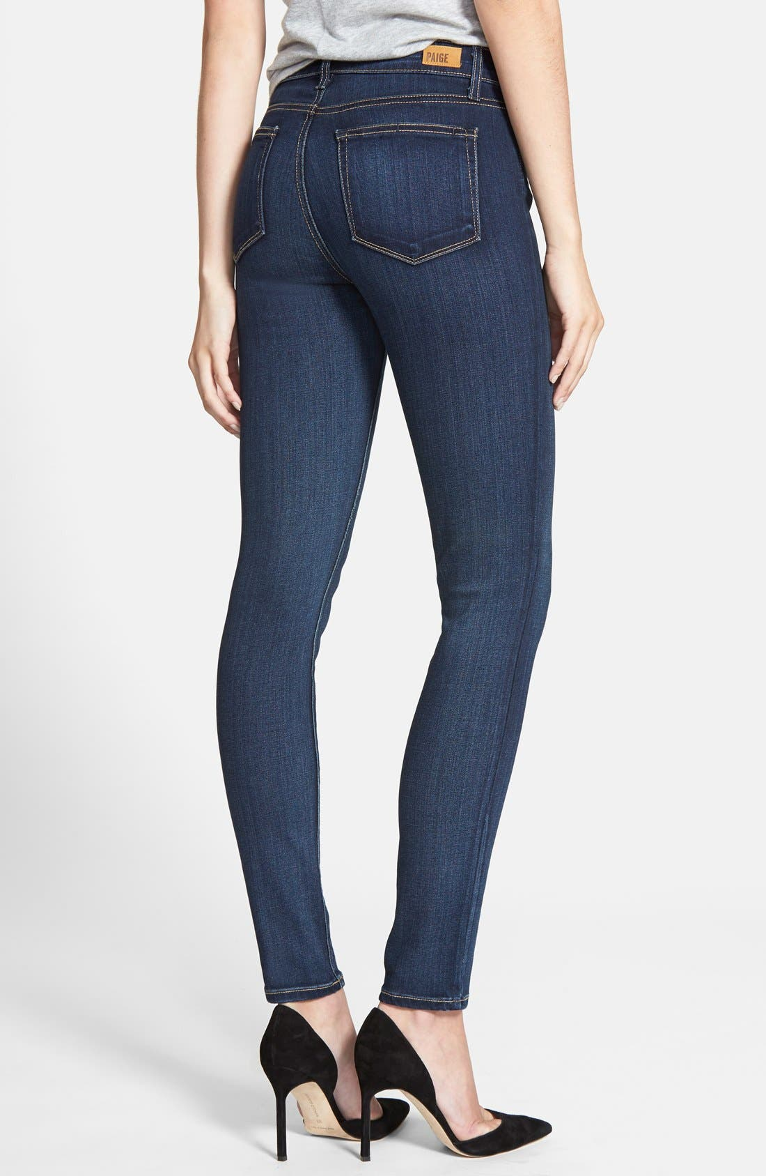 Alternate Image 2  - PAIGE Transcend - Hoxton High Waist Skinny Jeans (Vista)