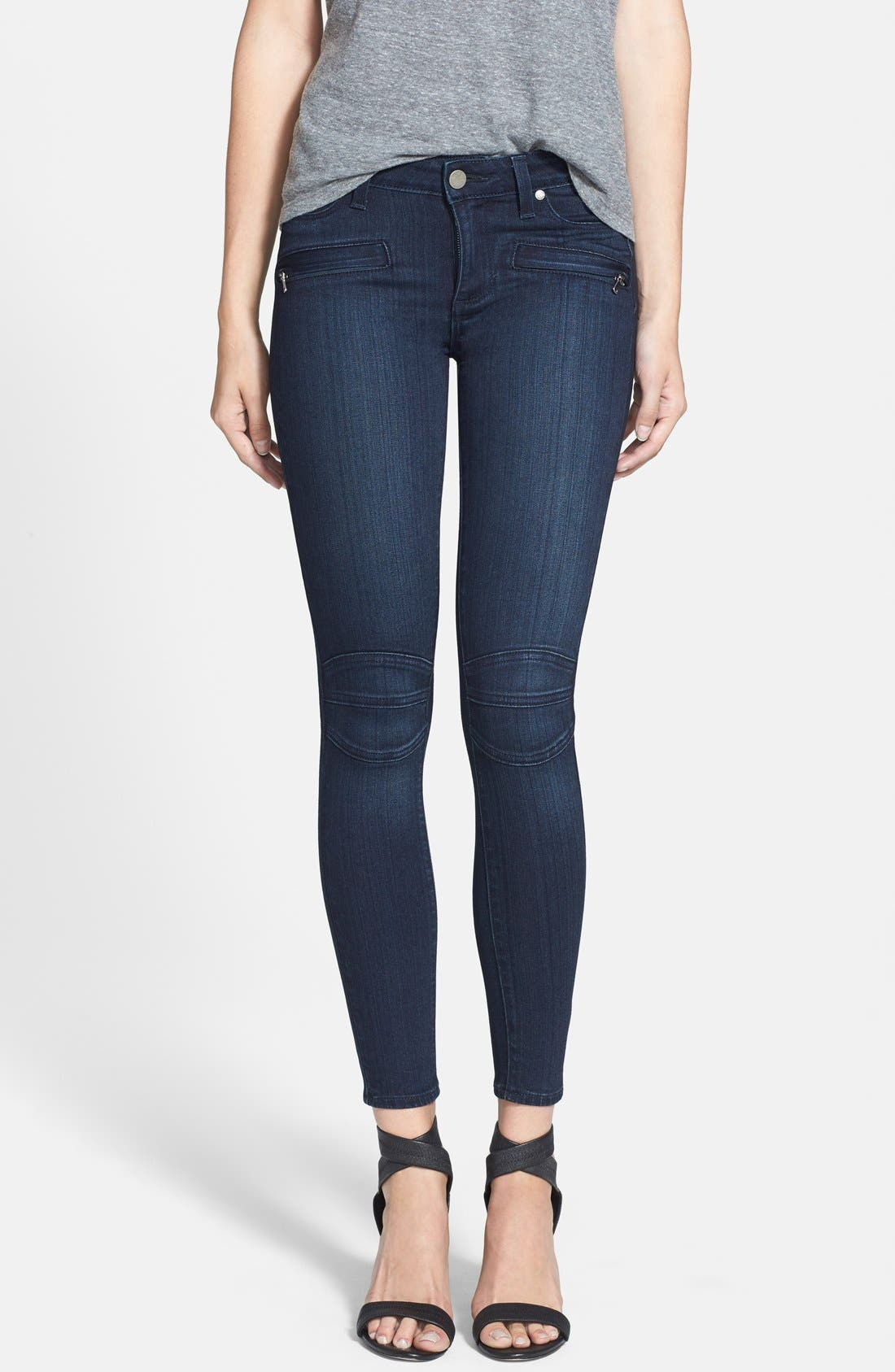 Main Image - Paige Denim 'Ollie' Ultra Skinny Jeans (Midlake No Whiskers)