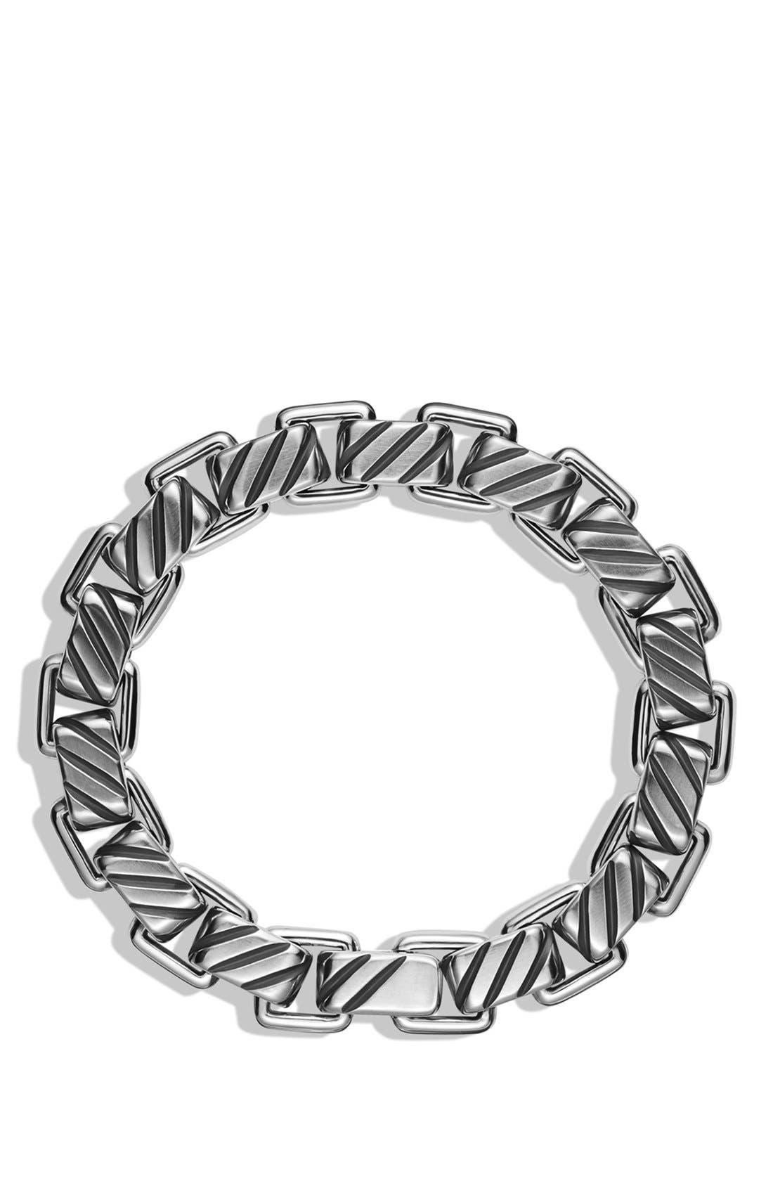 'Modern Cable' Empire Link Bracelet,                             Alternate thumbnail 2, color,                             Silver