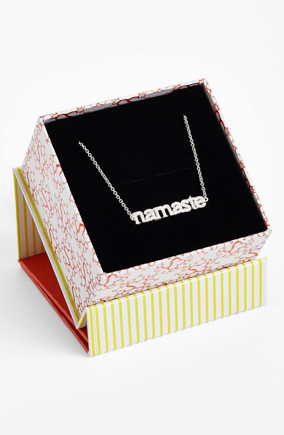 Alternate Image 2  - Sugar Bean Jewelry 'Namaste' Pendant Necklace