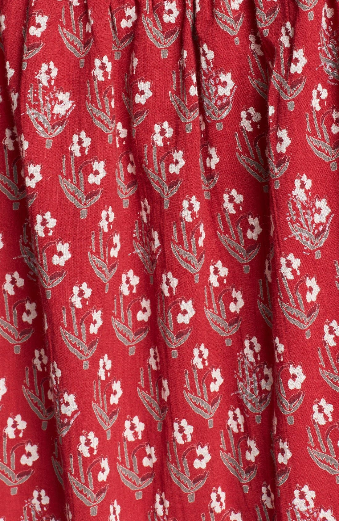 Alternate Image 3  - Free People Floral Print Butterfly Sleeve Cotton Dress