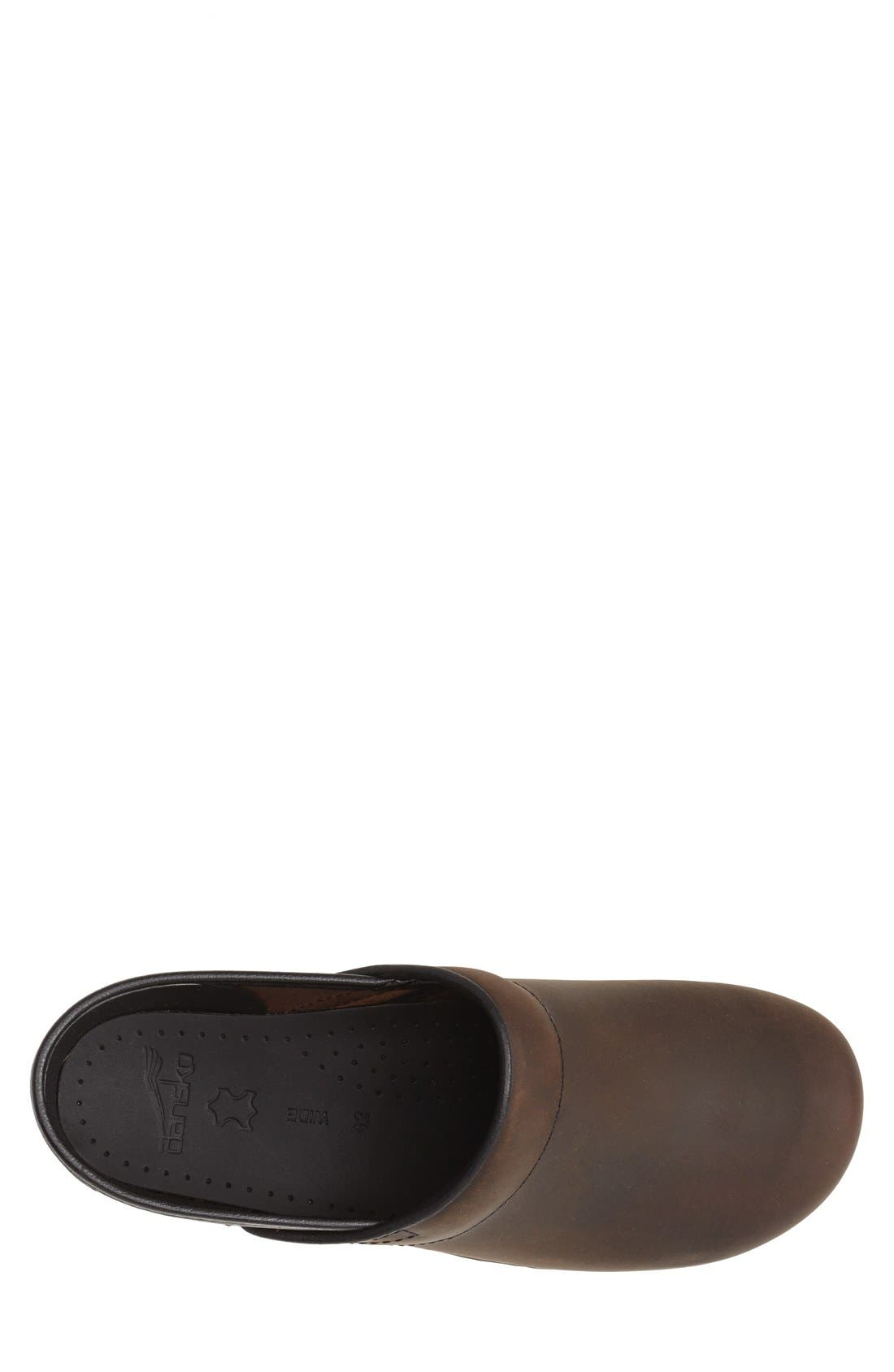 'Pro' Clog,                             Alternate thumbnail 3, color,                             Antique Brown Oiled