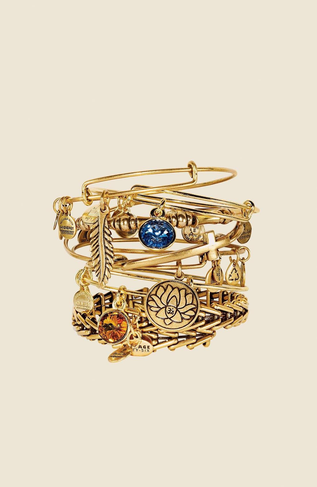 Alex and Ani 'Gypsy 66' Wrap Bracelet,                             Alternate thumbnail 5, color,