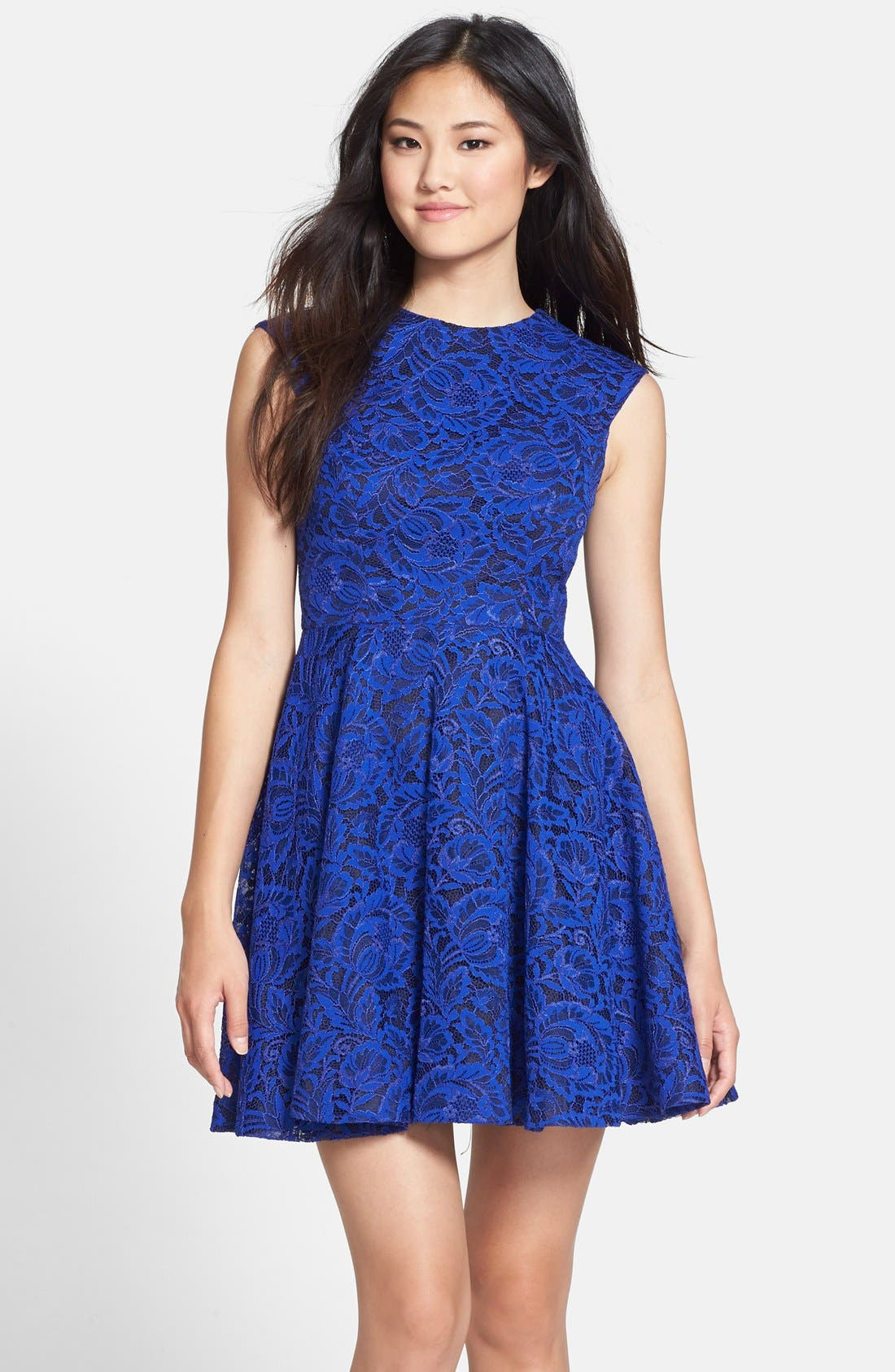 Alternate Image 1 Selected - Cynthia Rowley Lace Fit & Flare Dress