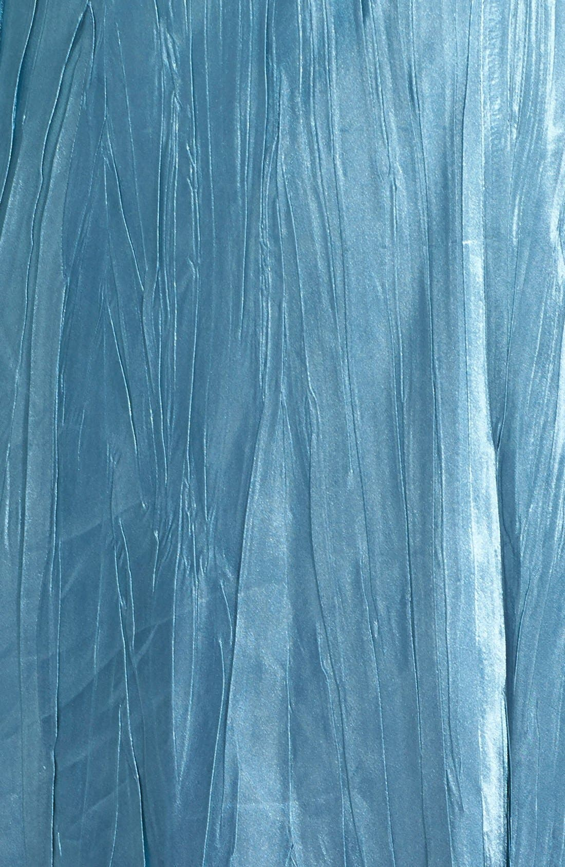 Embellished Charmeuse & Chiffon Dress with Jacket,                             Alternate thumbnail 4, color,                             Silver/ Blue Ombre