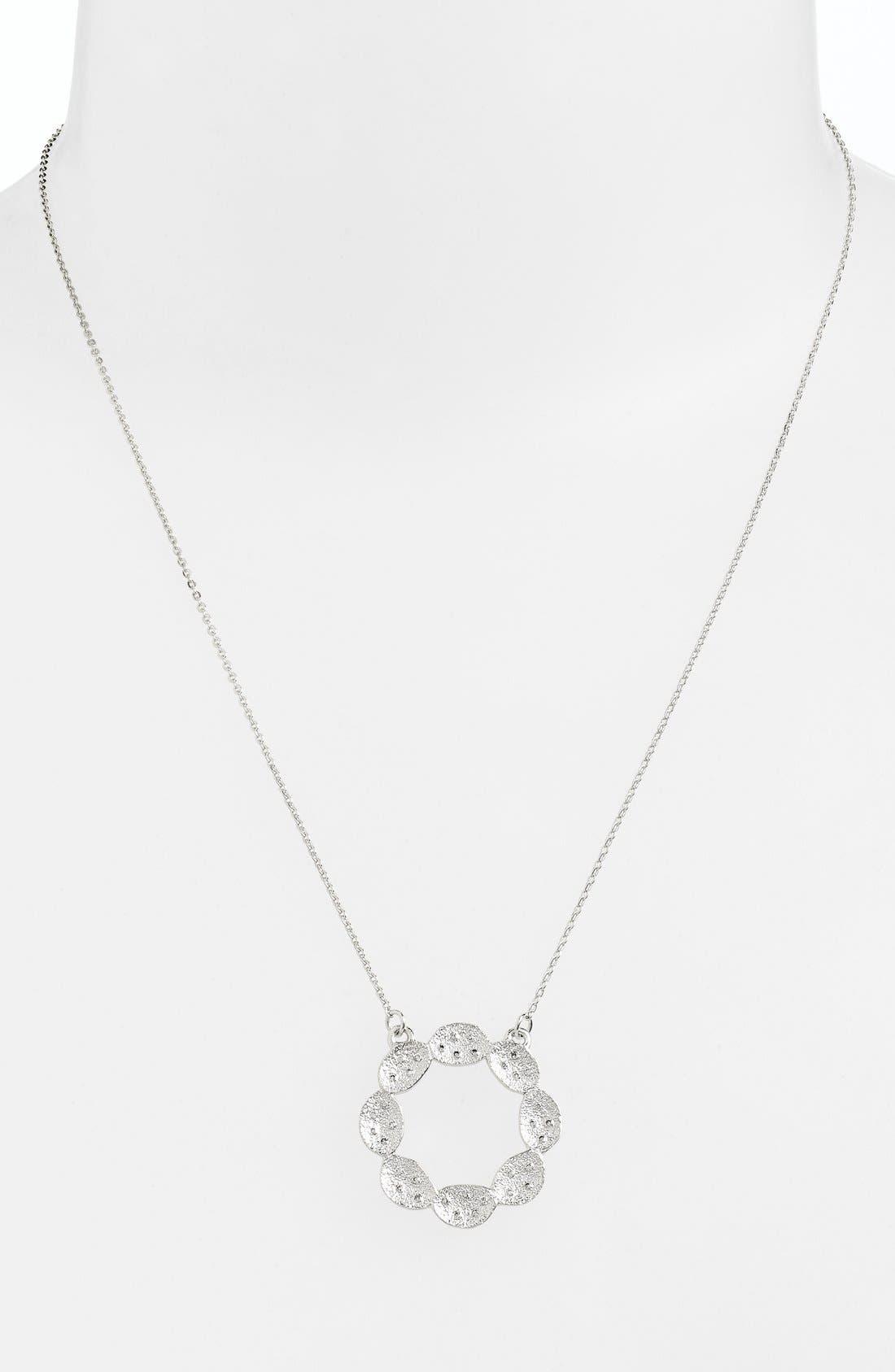'Ashley' Pod Pendant Necklace,                             Main thumbnail 1, color,                             Silver/ Clear