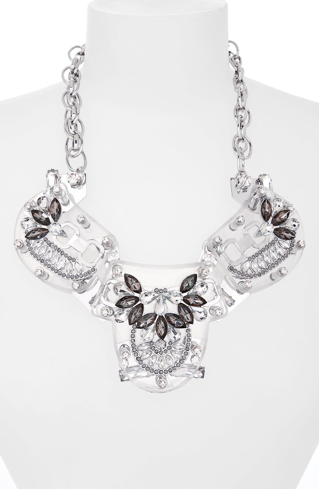 Alternate Image 2  - Adia Kibur Crystal & Stone Flower Necklace