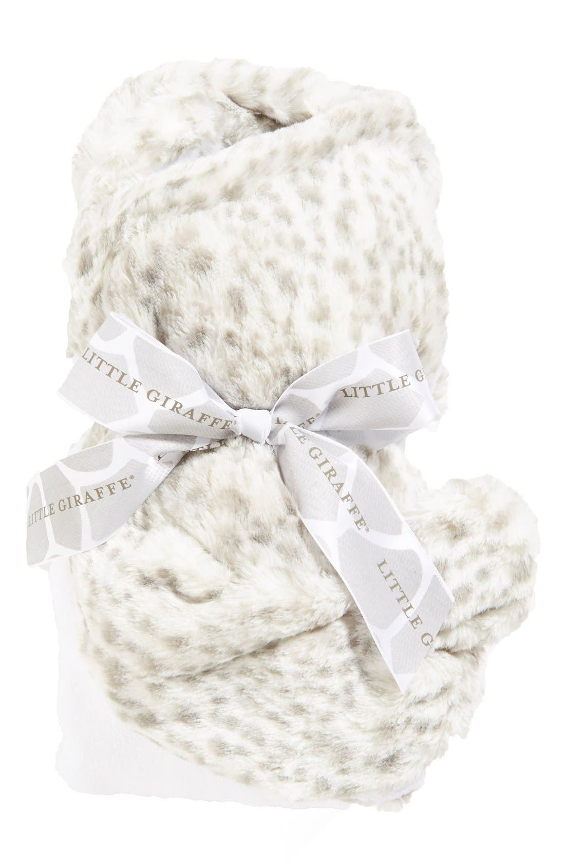 'Luxe Snow Leopard' Hooded Towel,                             Alternate thumbnail 2, color,                             Snow Leopard