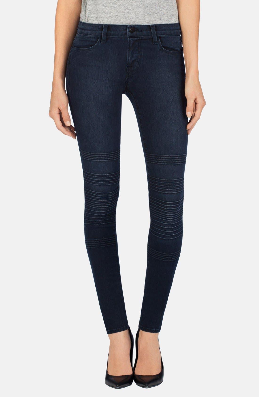 Main Image - J Brand 'Willow' Moto Skinny Jeans (Verve)