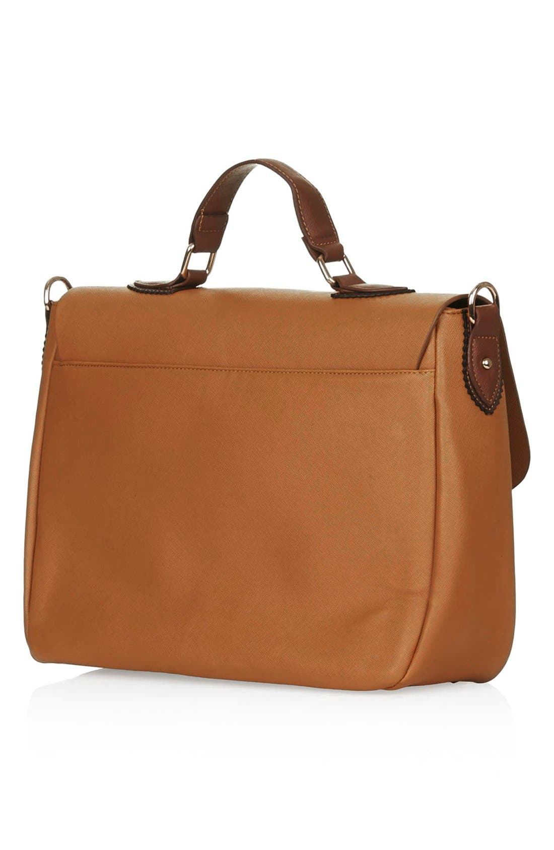 Alternate Image 4  - Topshop 'Saffiano' Colorblock Satchel