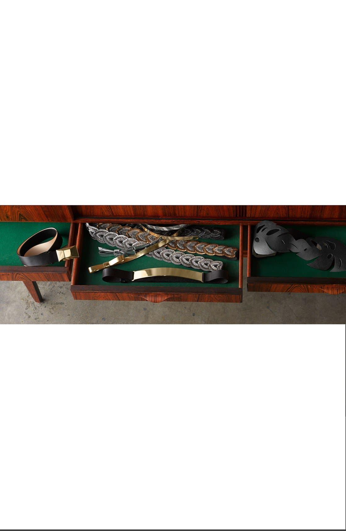 Alternate Image 2  - Halogen® Metal Plate Leather Belt