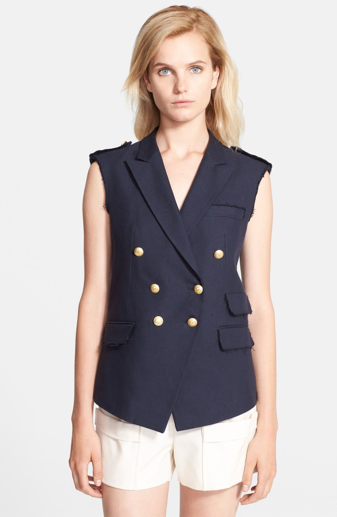 Alternate Image 1 Selected - Band of Outsiders Raw Edge Double Breasted Vest