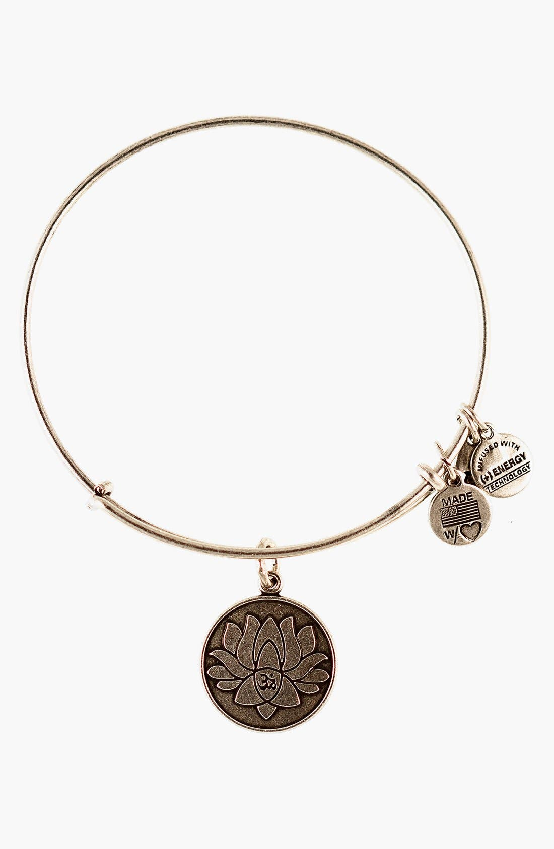 Main Image - Alex and Ani 'Lotus Peace Petals' Expandable Wire Bangle
