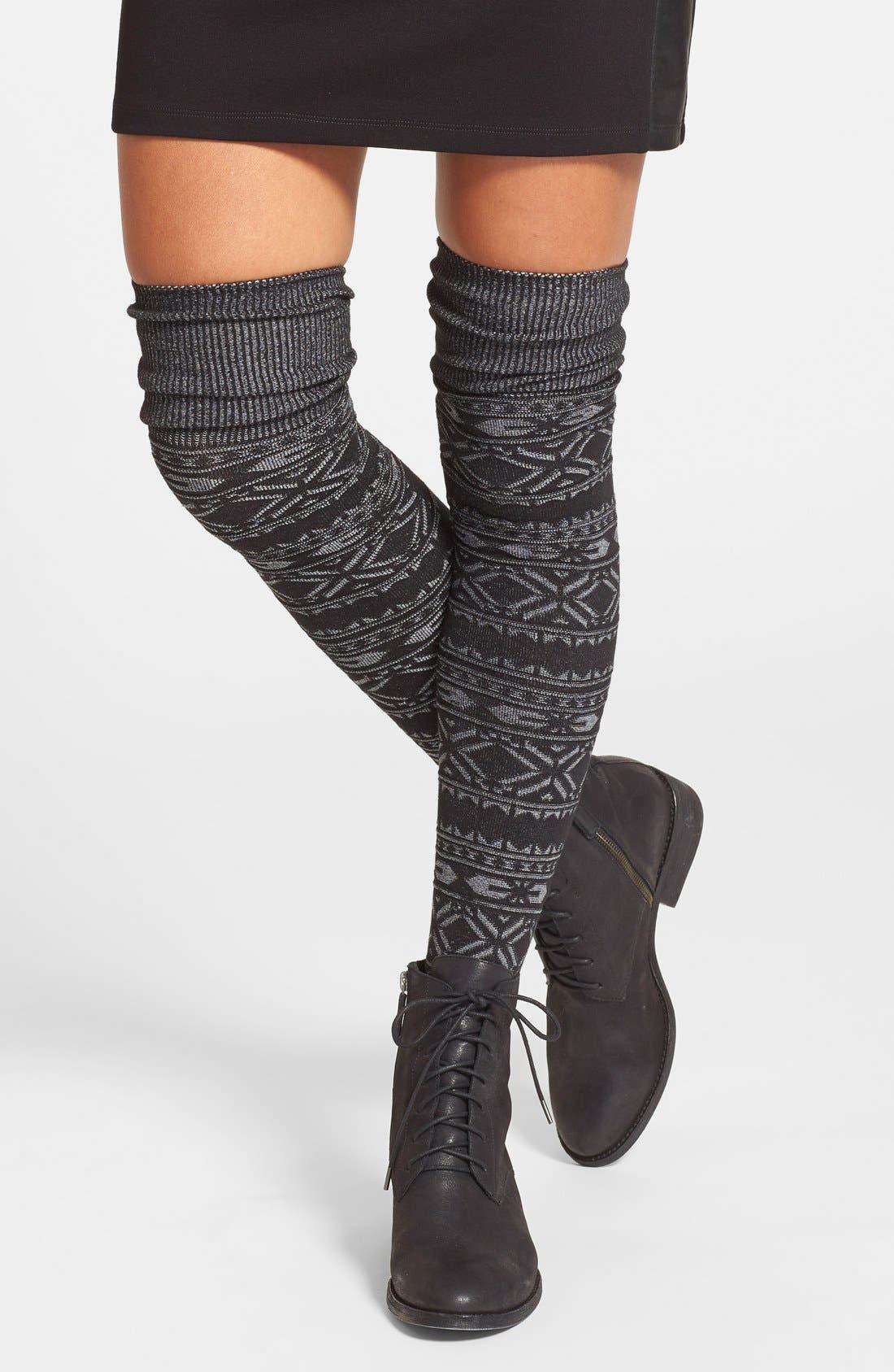 Hue 'Fair Isle' Over the Knee Socks | Nordstrom