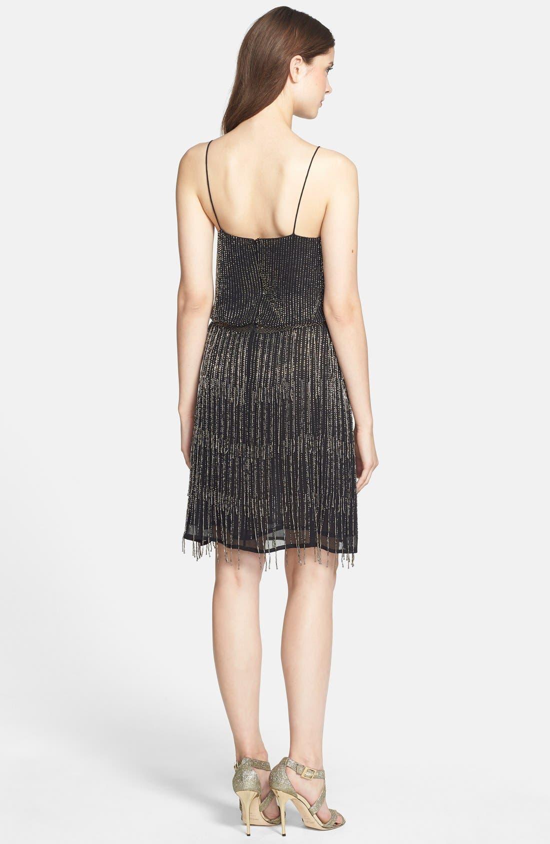 Alternate Image 2  - Adrianna Papell Beaded Fringe Blouson Dress