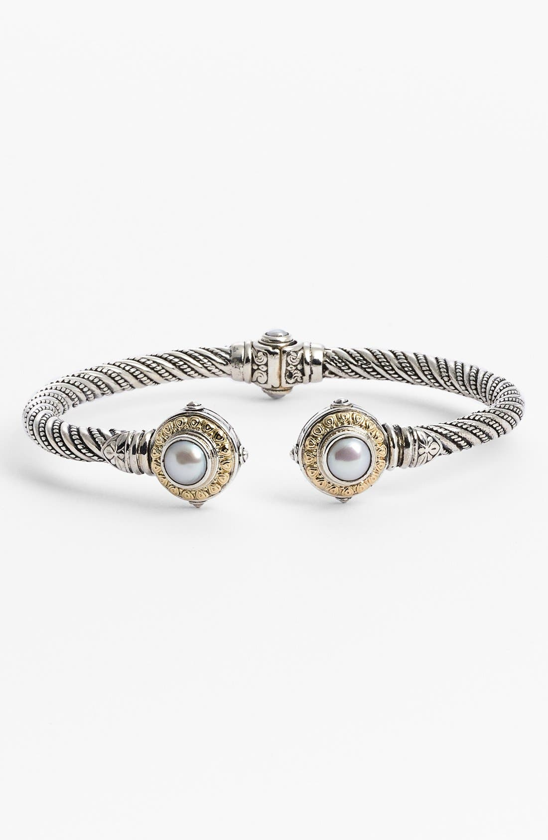 'Hermione' Hinged Cuff,                             Main thumbnail 1, color,                             Silver/ Gold