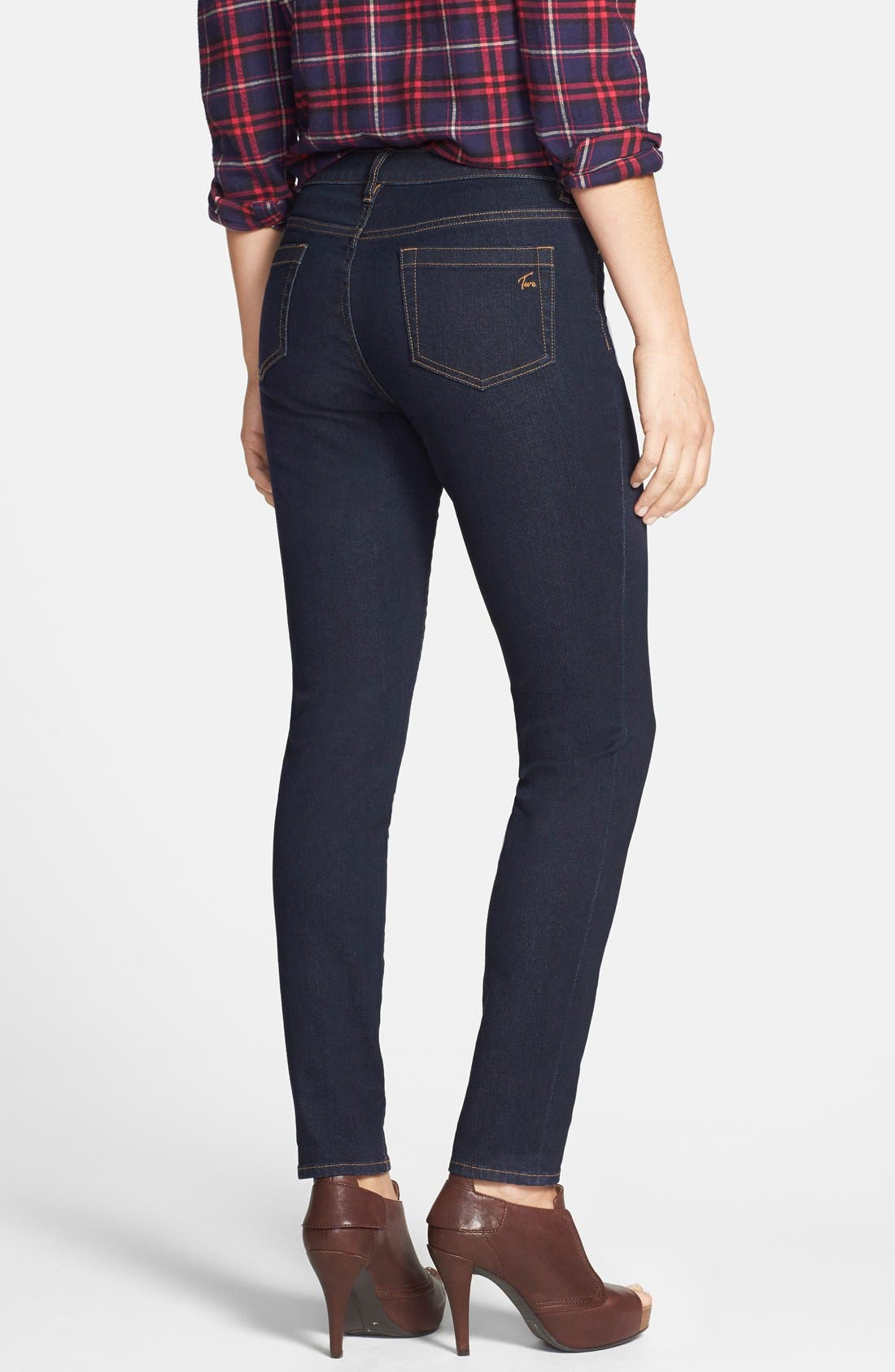Five-Pocket Stretch Skinny Jeans,                             Alternate thumbnail 2, color,                             Midnite Denim