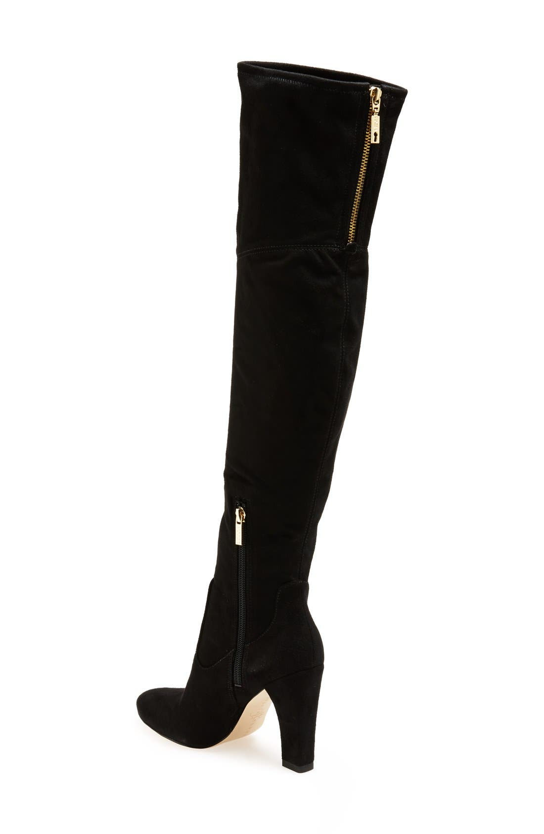 'Sarena' Over the Knee Stretch Boot,                             Alternate thumbnail 2, color,                             Black