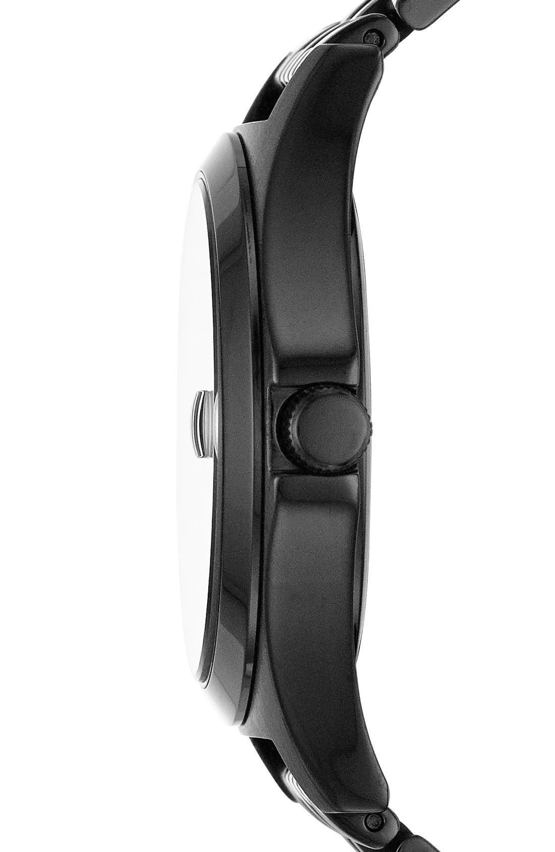 'The Slim' Bracelet Watch, 36mm,                             Alternate thumbnail 3, color,                             Black