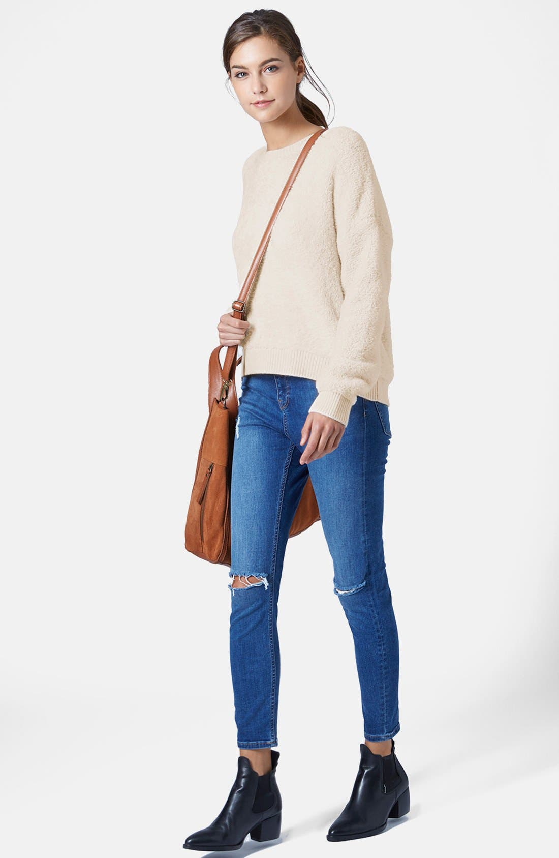 Alternate Image 5  - Topshop Fluffy Pullover Sweater