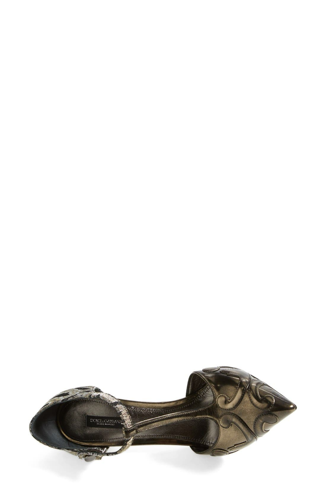 Alternate Image 3  - Dolce&Gabbana Jacquard Pointy Toe T-Strap Pump (Women)