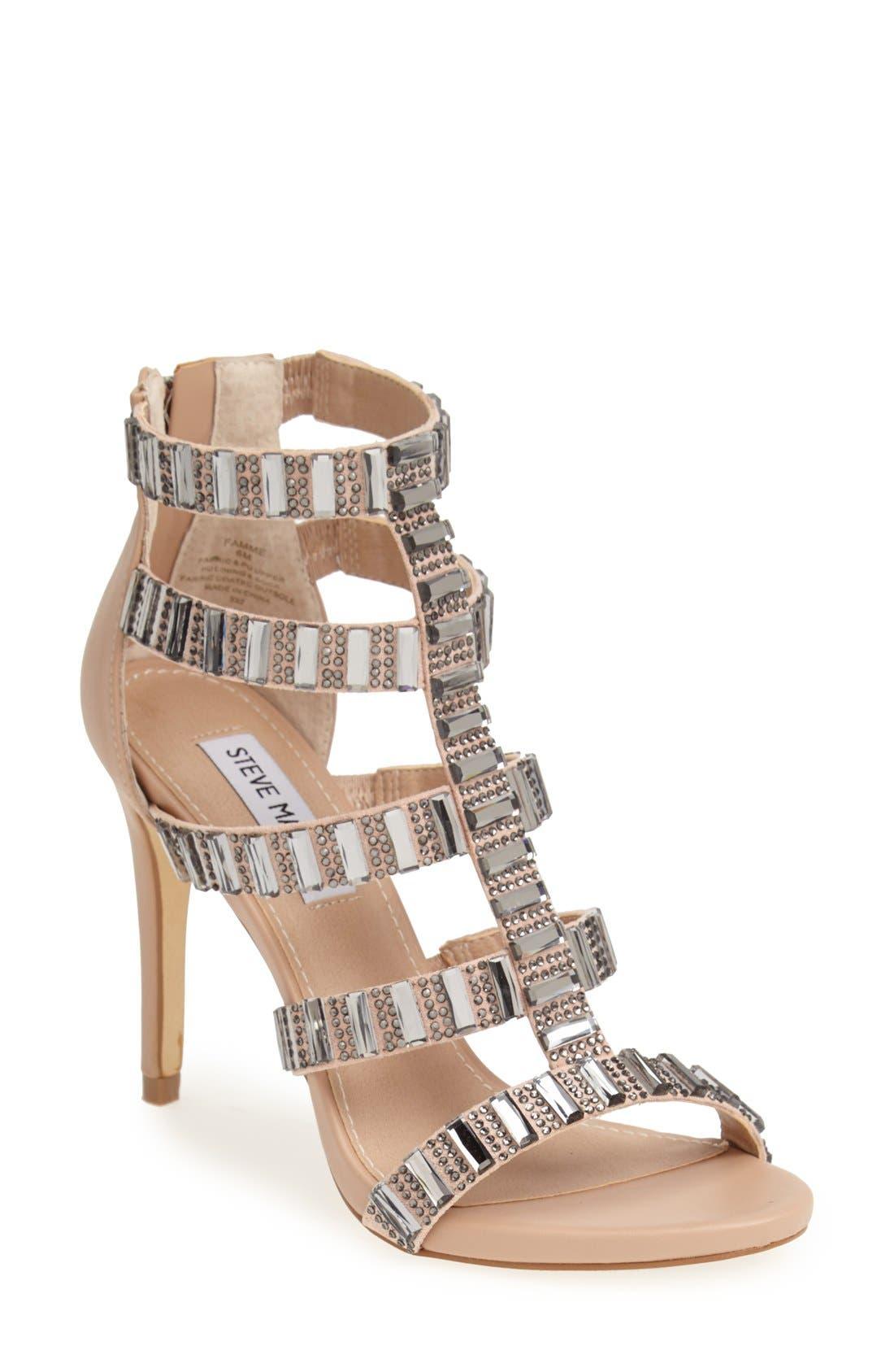Alternate Image 1 Selected - Steve Madden 'Famme' Crystal Sandal (Women)