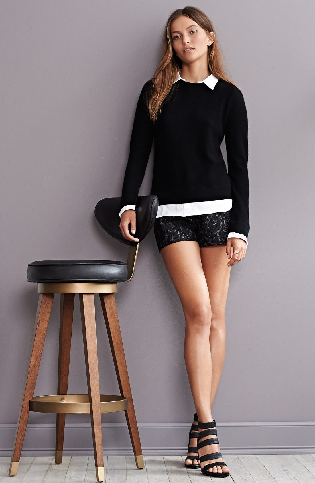 Alternate Image 3  - Joie 'Rika' Layered Look Wool & Cashmere Sweater