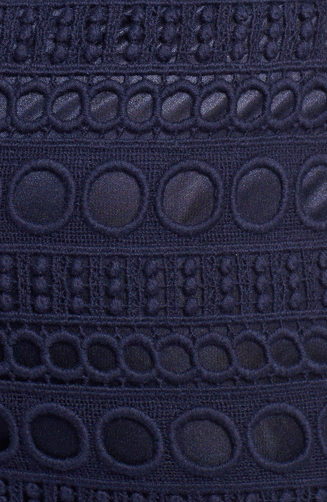 Alternate Image 4  - Laundry by Shelli Segal Jersey & Lace Blouson Dress
