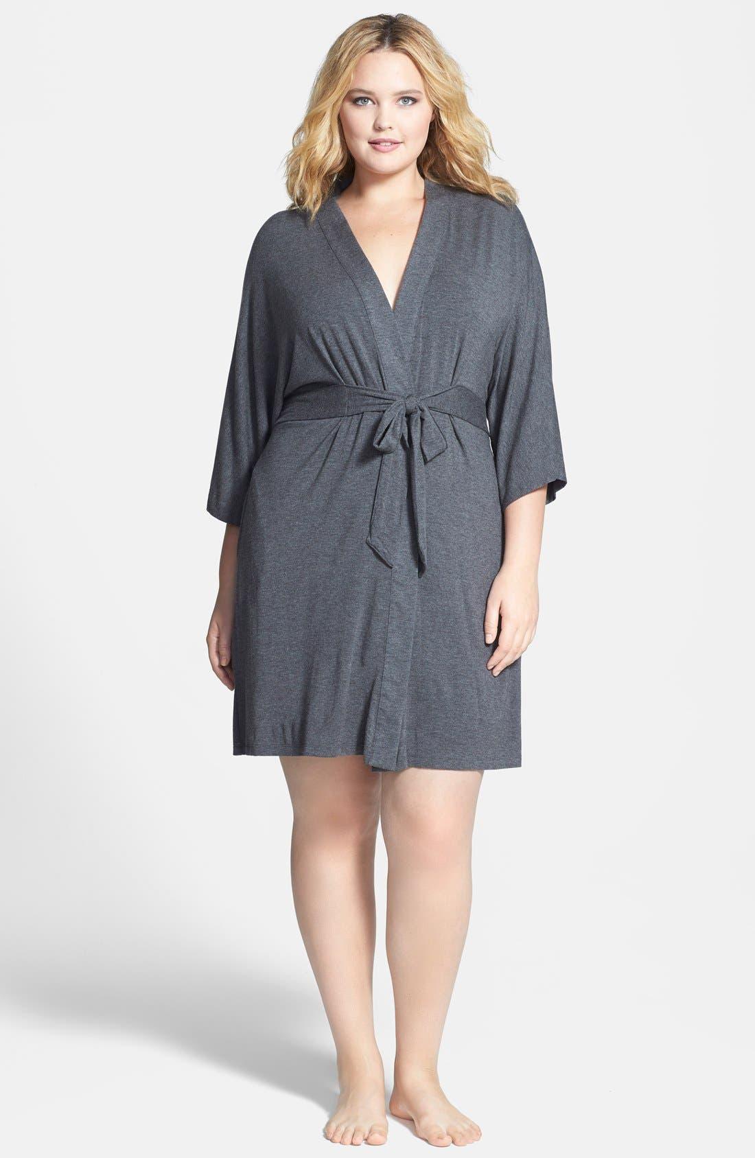 DKNY 'Urban Essentials' Robe (Plus Size)