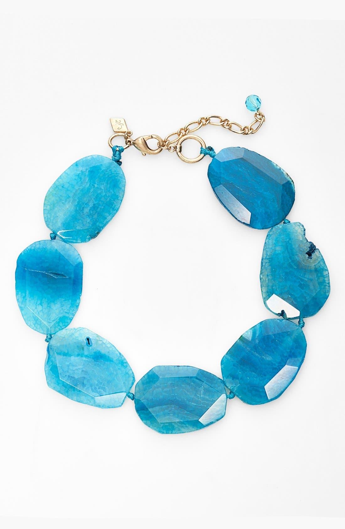 Stone Collar Necklace,                         Main,                         color, Blue
