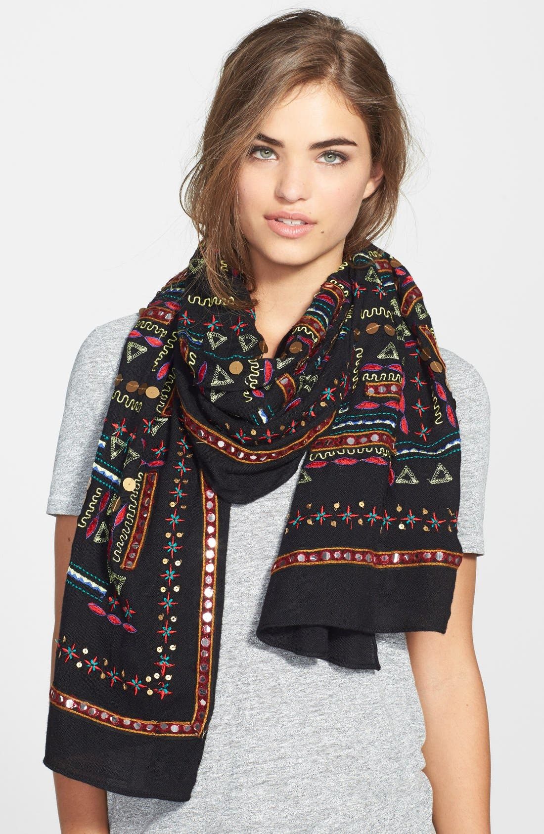 Main Image - Lucky Brand Embellished Scarf