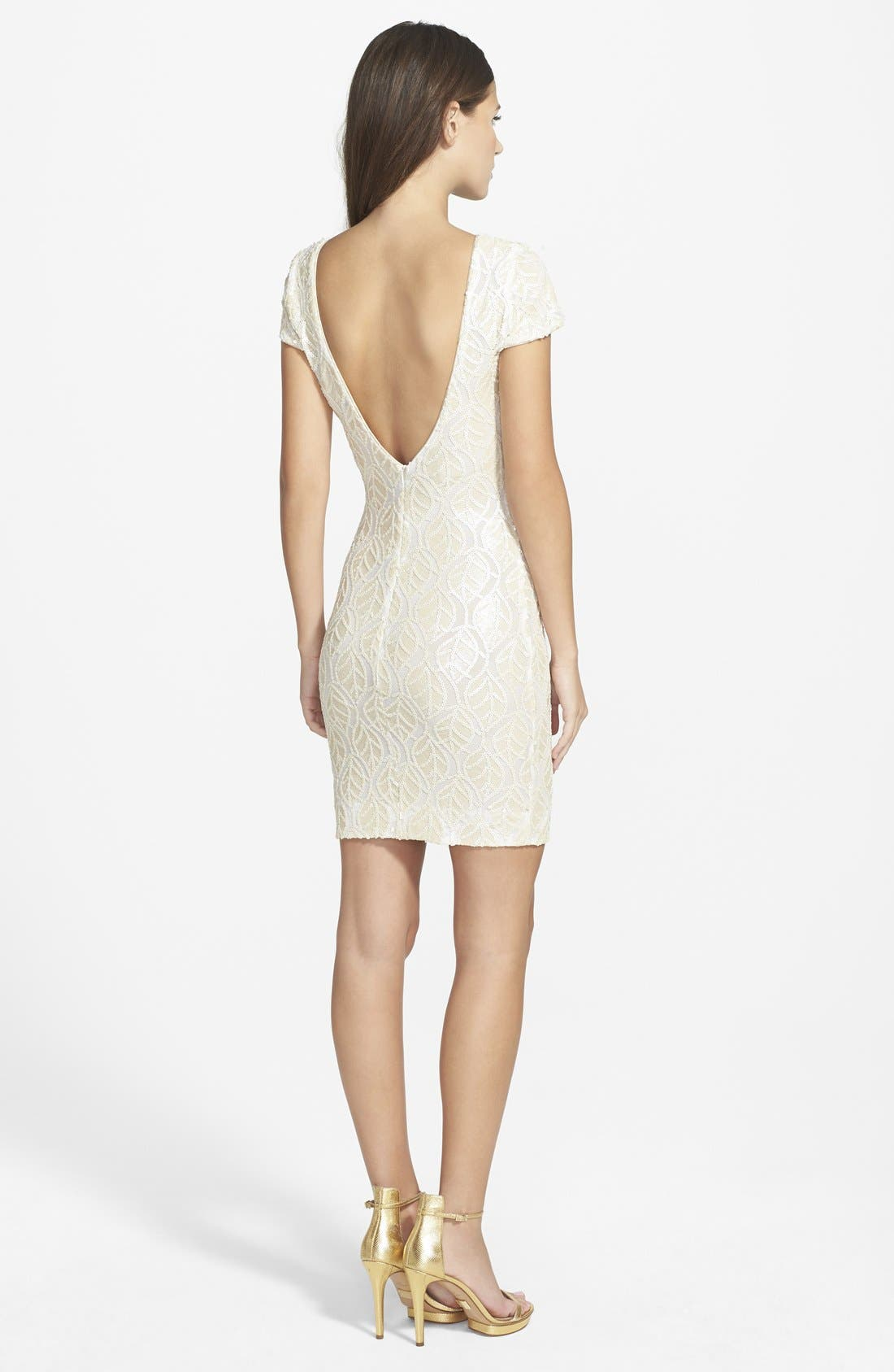 Alternate Image 2  - Dress the Population 'Tabitha' Sequin Minidress