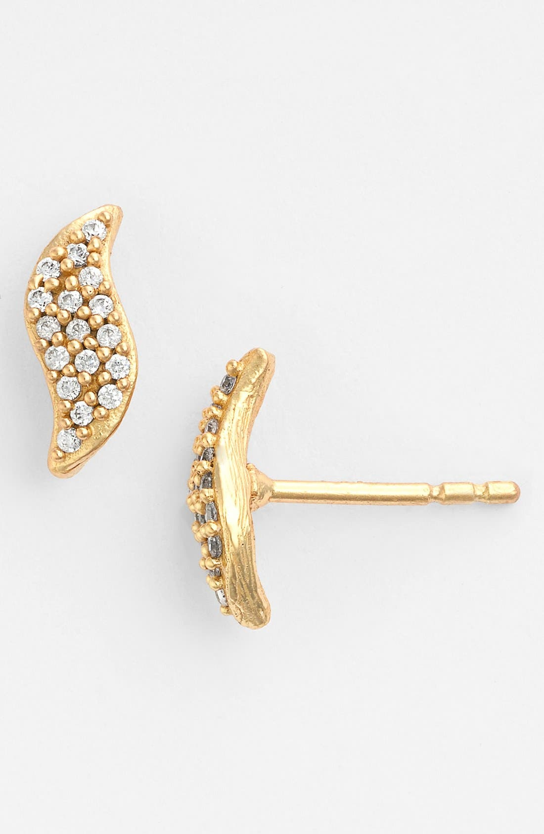 Alternate Image 1 Selected - Melinda Maria 'Mattie' Pavé Stud Earrings