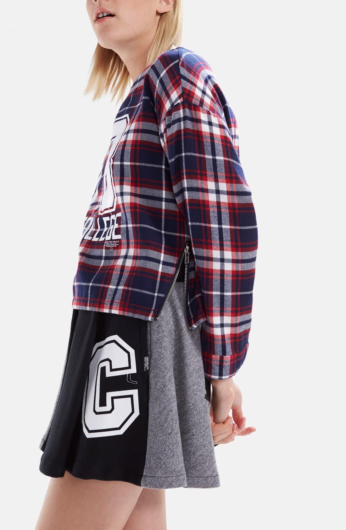 Alternate Image 4  - :CHOCOOLATE '78 Check' Cotton Flannel Shirt (Women)