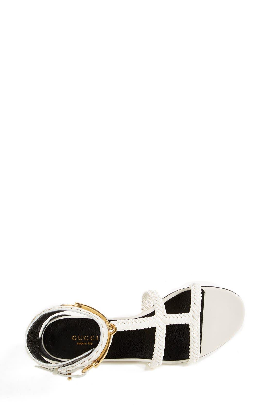 Alternate Image 3  - Gucci 'Ursula' Braided Flat Sandal (Women)
