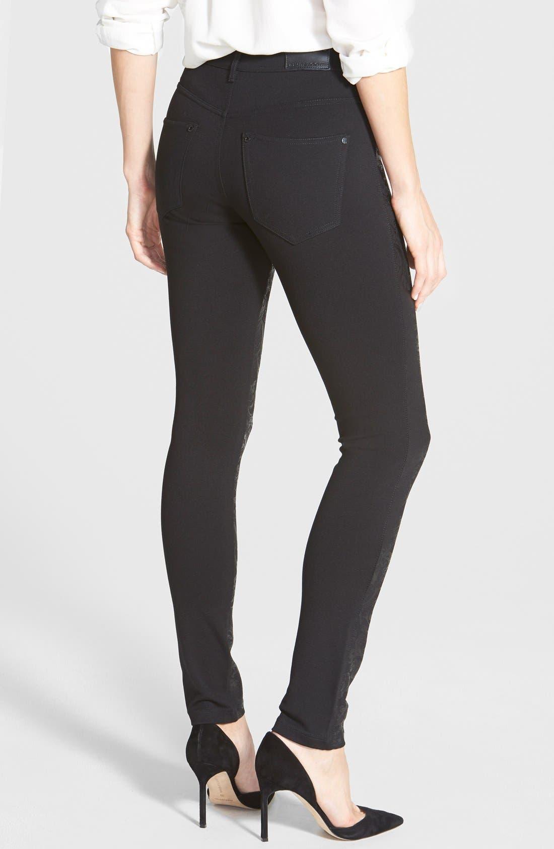 Alternate Image 2  - Liverpool Jeans Company 'Madonna' Gloss Print Stretch Knit Skinny Pants