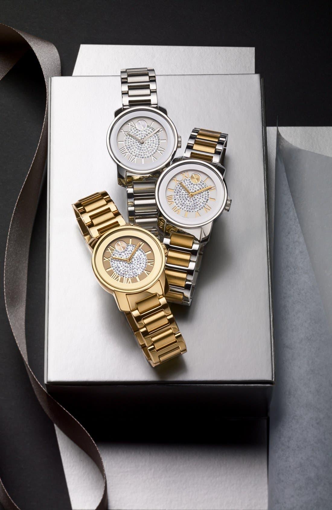 'Bold' Crystal Dial Bracelet Watch, 32mm,                             Alternate thumbnail 2, color,