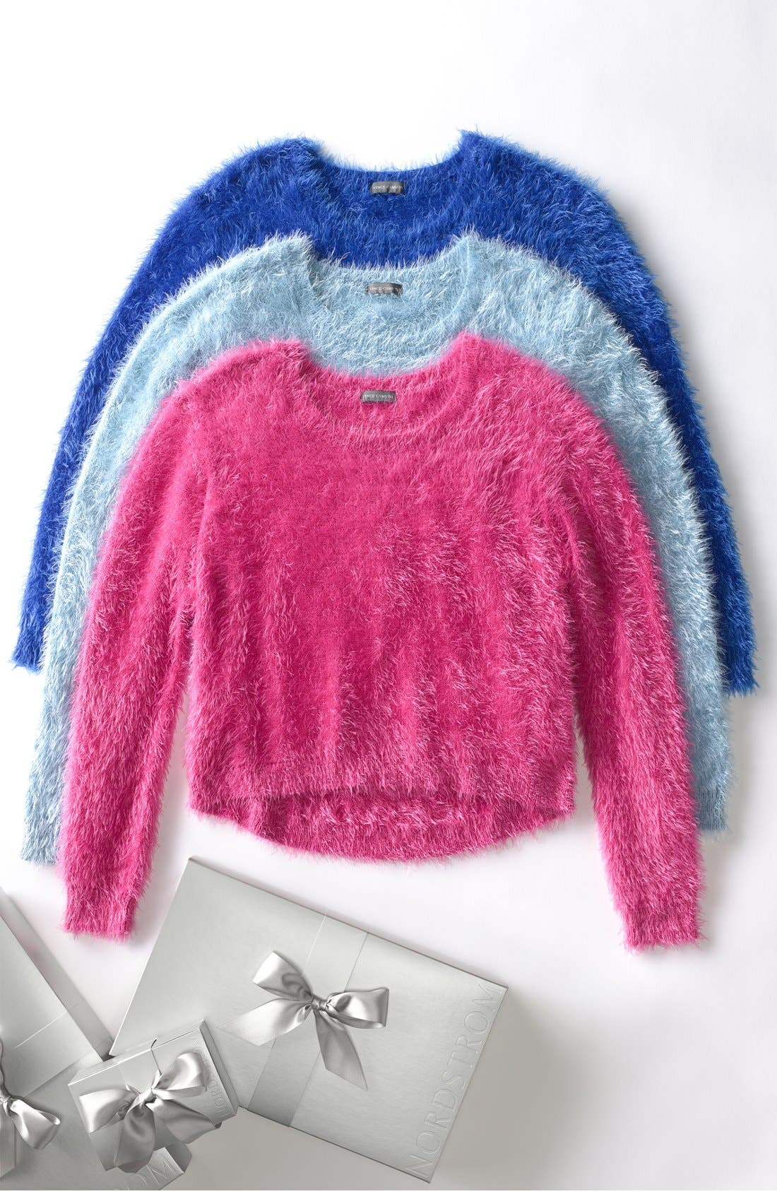 Alternate Image 4  - Vince Camuto Eyelash Knit Sweater (Petite)
